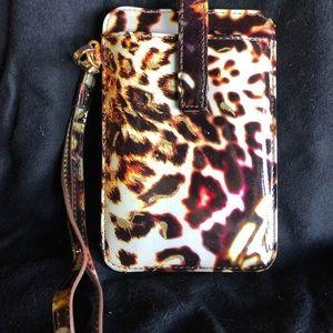 Lodis Leopard Patent ID/Credit Card Wristlet
